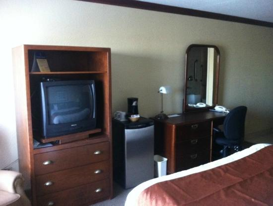 BEST WESTERN PLUS Hotel Universel Drummondville: TV and Desk area