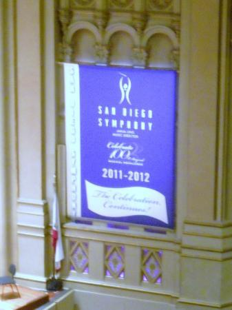 San Diego Symphony: banner on side wall