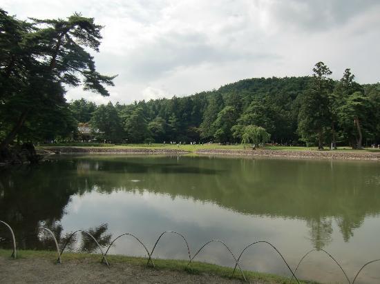 Motsu-ji Temple: 池の景色