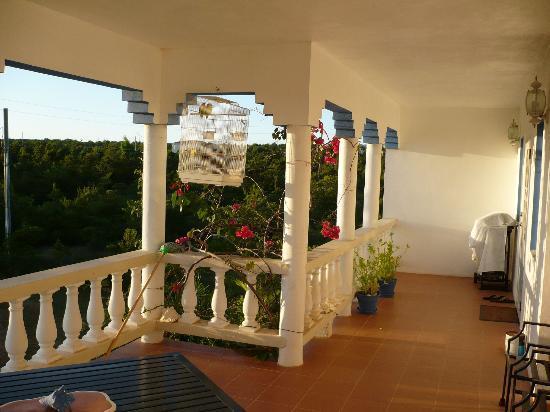 Nature Garden's Vacation Apartments : Balcone dal monolocale (studio)