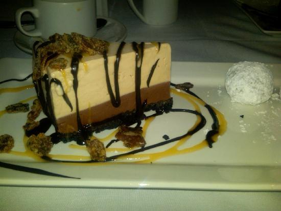 Roy's Waikiki Beach: Choc Peanut Butter Mud Pie -- memorable, especially with the candied bacon garnish