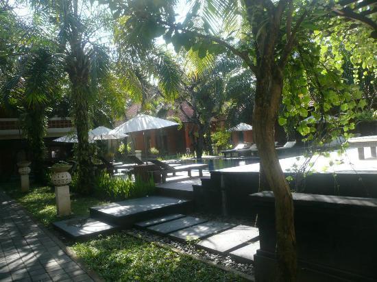Griya Santrian : Through the trees to the pool near my room