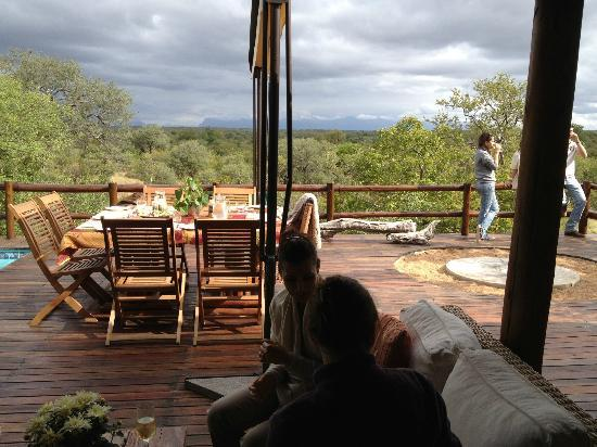 Sausage Tree Safari Camp: View fom terrace