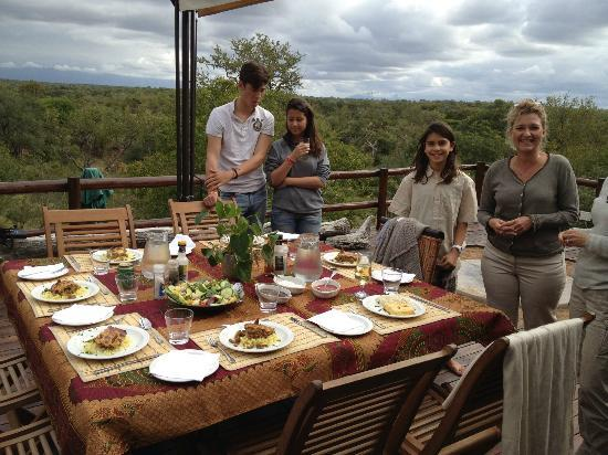 Balule Nature Reserve, Sydafrika: Brunch time