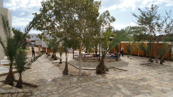 Jowhara Hotel: Blick auf die Hang-Outs und Trockenschränke der Tauchstation