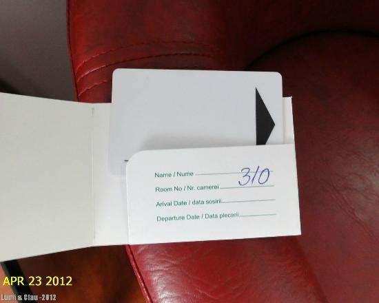 Best Western Silva Hotel: Silva Hotel - access card
