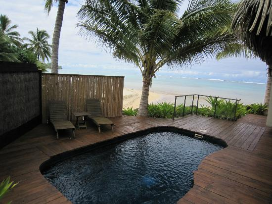 Sea Change Villas: Private pool in beach front bungalow with ocean views