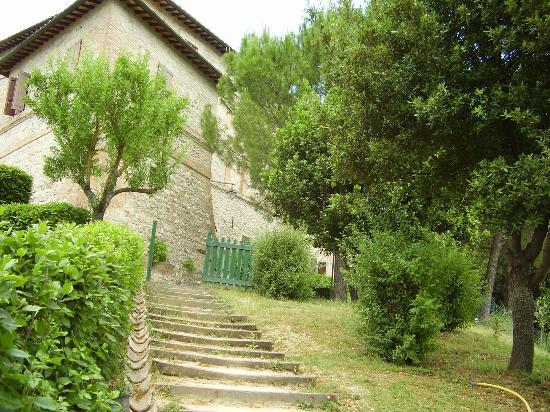 La Rocca di Mantignana: Treppe vom Pool richtung Haus