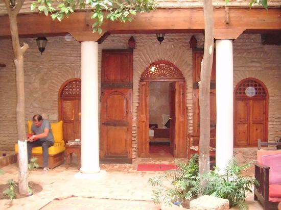 Riad Hidden : View from courtyard to our room