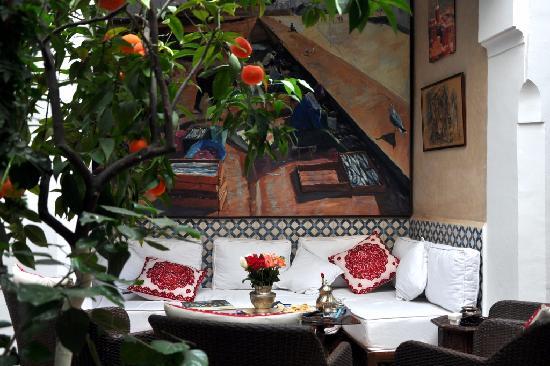 Marrakech-Tensift-El Haouz Region, Marocko: Le patio du Riad des Artistes
