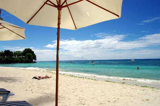 Henann Resort Alona Beach: Alona beach, taken from Henann sunbeds