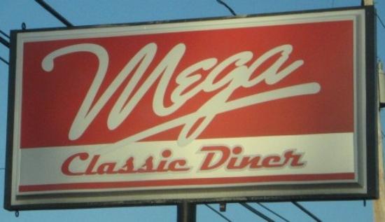 Mega Classic Diner: Mega sign