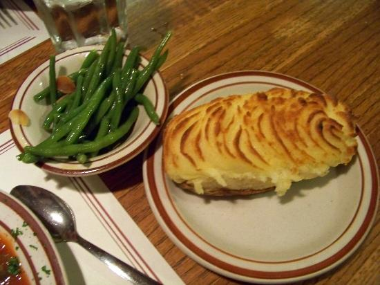 Henry's Salt of the Sea: greens and twice baked potatoe comes with the meal
