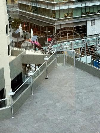 Westfield Sydney: From the 17th floor of accomodation, shops below.