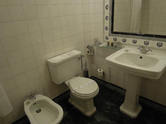 Hotel Metropole: 洗面台とトイレ