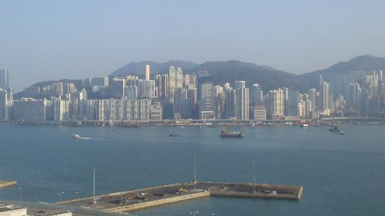 Hotel ICON: View of Victoria Harbour from our Icon 38 Harbour View King Room