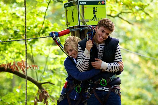 Go Ape Treetop Adventure Course: Fun adventure