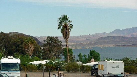 Lake Mead RV Village: view from camp 2
