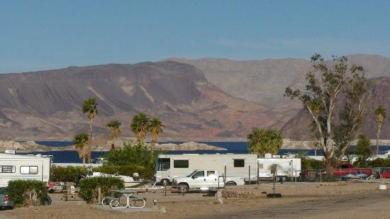 Lake Mead RV Village: view from camp 3