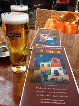 LA BOCA : メニューとビール