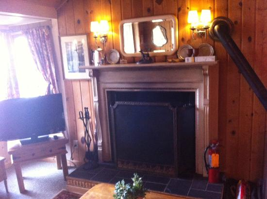 Thorp House Inn and Cottages: Fireplace in Dove Cottage