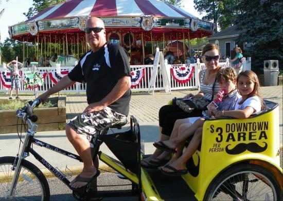 Poe's Pedicab: The owner, Steve Poe.