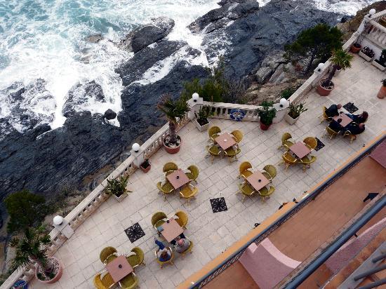 Hotel Grifeu : Terraza junto al comedor