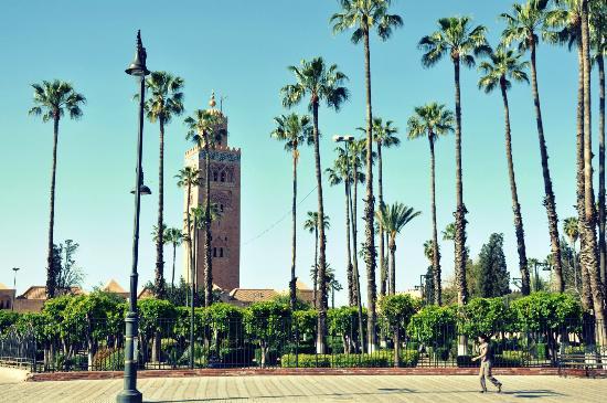 Riad Sidi Ayoub : Vista del mezquita de la Koutoubia de Marrakech.