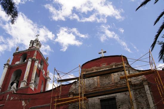 Tlalpan: La iglesia principal del pueblo.