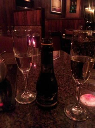 The Melting Pot: The manager heard we were celebrating our wedding and offered a complementary champagne toast.
