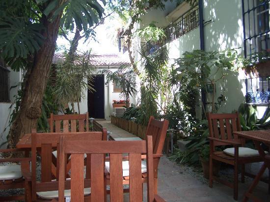 Las Acacias Hostal: Patio y suite de las Acacias Malaga