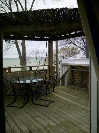 B & B In Port Dalhousie: This is the view from inside the bedroom. On a clear day you can see the other side, even Toront