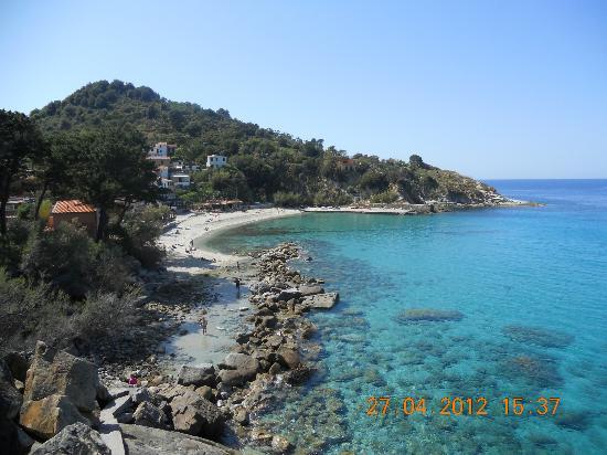 Hotel Cernia: la spiaggia vista dal