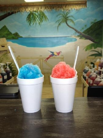 Island Snowball Company: some of our flavors; cotton candy and bubble gum