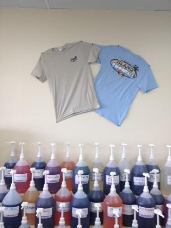Island Snowball Company: we have t-shirts in adult and children's sizes