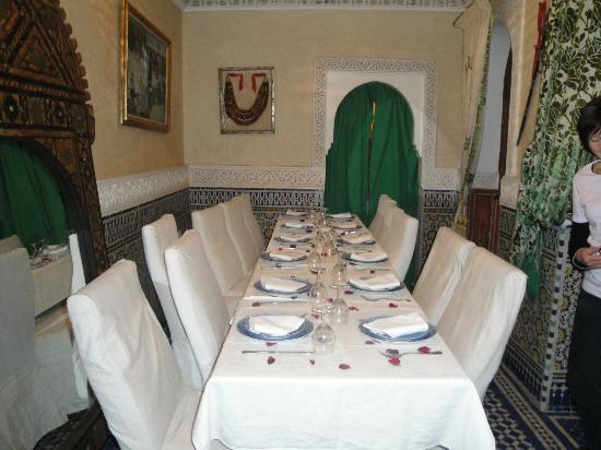 Riad Bab Chems: la salle de repas