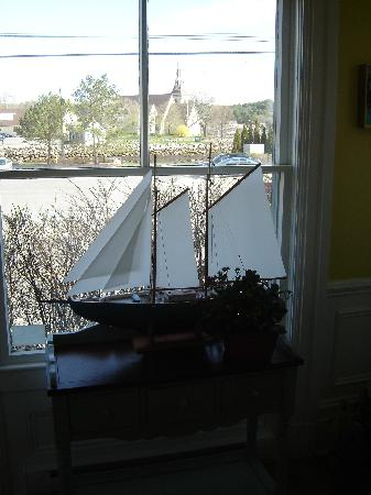 Mahone Bay Bed and Breakfast: The Bay and Churches out Front