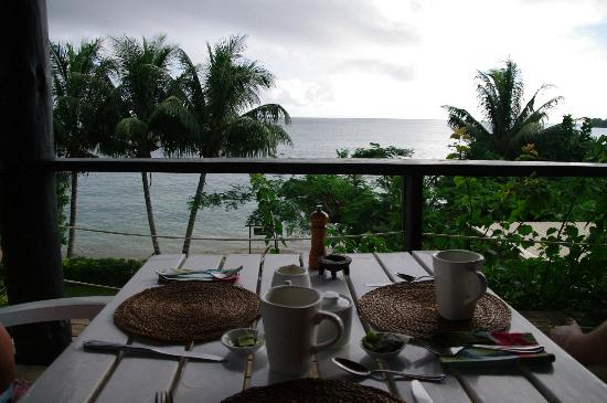 Coconut Grove Beachfront Cottages: Our breakfast view!