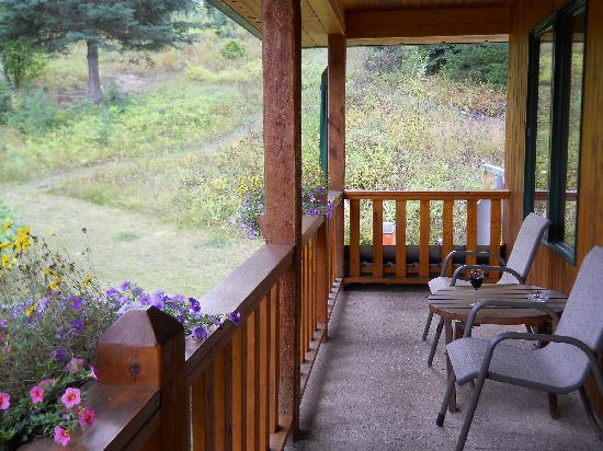 Hillside Lodge and Chalets: large long & Quiet Deck