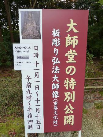 Jingoji Temple: Spezialöffnung des Daishido im November 2011