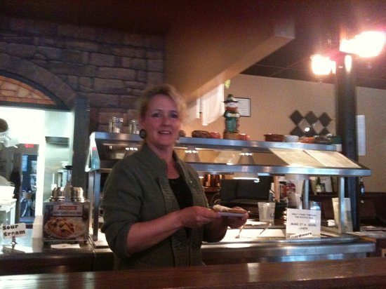 Burlington, WI: the owner, Micki, of this great restaurant