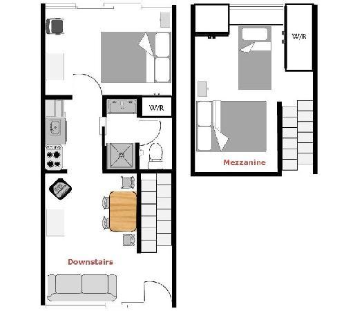 Hobson Motor Inn & Wings: Queen 2 bedroom floor plan.