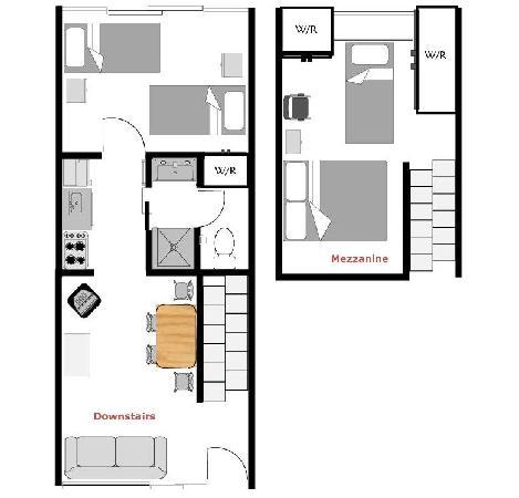 Hobson Motor Inn & Wings: Family 2 bedroom floor plan.