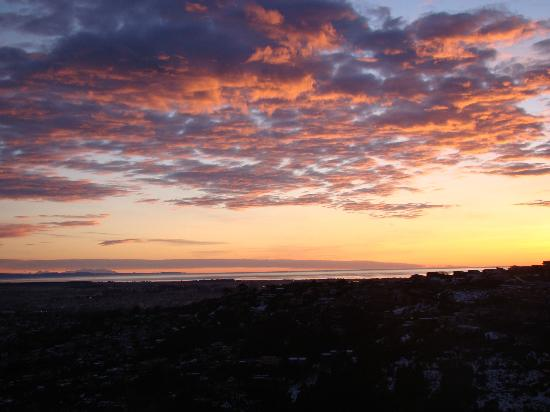 Sunrise looking towards Pegasus Bay from Victoria Park