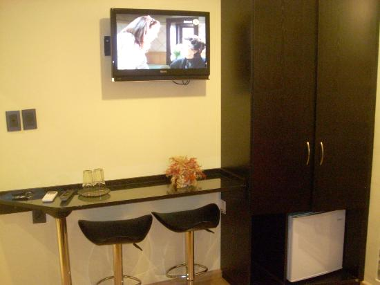 Sur Hotel: High Def TV and Bar Area