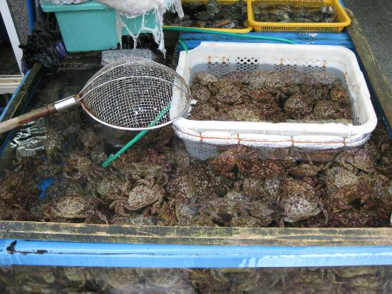 Millak Heo Center: Fresh crabs