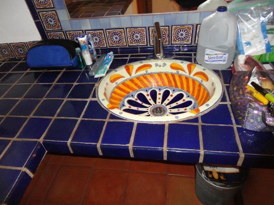 Cabo Cush Hotel: cute ceramic tiles made next door!