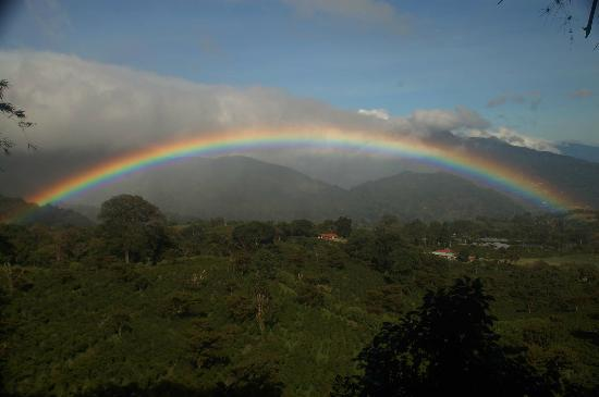 Sendero Los Quetzales (The Quetzales Trail): The rainbow was so incredible that Cesar even took a picture.