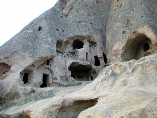 Cappadocia Cave Dwellings: people caved out houses