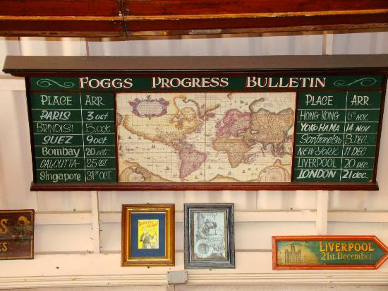 Phileas Fogg: P Fogg's travel schedule